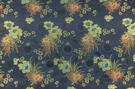 Dark Color Chinese Pattern Frabic Wallpaper 3DsMax Texture Map Download Free 3DMODELFREE