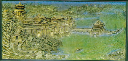 Bronze Relief Texture Map: Chinese and European Famouse Painting