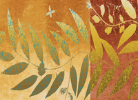 Yellow leaves abstract wallpaper map