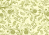 Simple green flower vines wallpaper