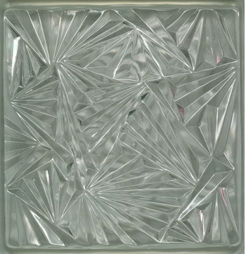 Transparent ice texture glass tiles texture