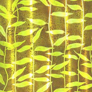 Yellow branches glass painting texture