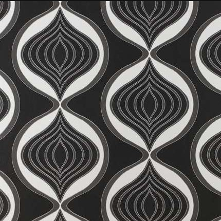 Black swirl pattern wallpaper
