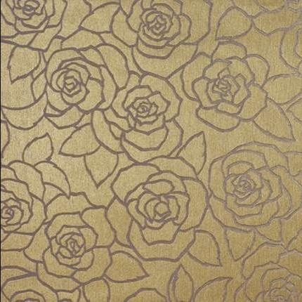 Gold pattern living room | Living room design | Wallpaper