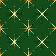 Gold stars green fabric textures
