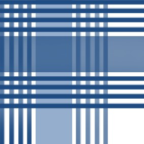Blue and white cross-striped fabric textures