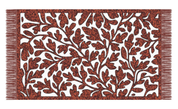 Dark red leaves carpet fabric texture