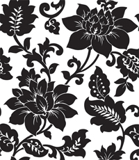 Modern minimalist black and white flowers wallpaper