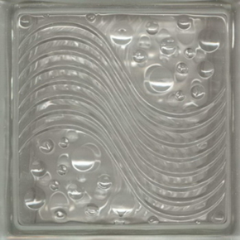 Transparent glass brick texture