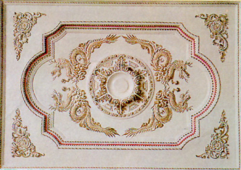 European plaster ceilings textures