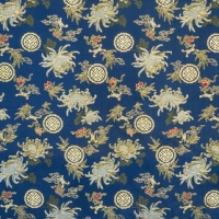 Dark Classical Chinese Pattern Frabic Wallpaper