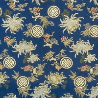 Dark Chrysanthemum Pattern Frabic Wallpaper