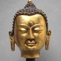 Furniture, decorative brass Buddha head of the religious beliefs PS post-mapping