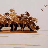 Reed painting of island style 3dsmax post-mapping